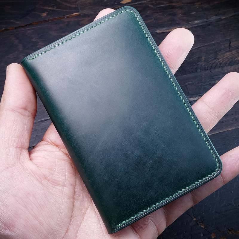 #50.2 Italian Shell Cordovan & French Chévre Combo Compact Bifold