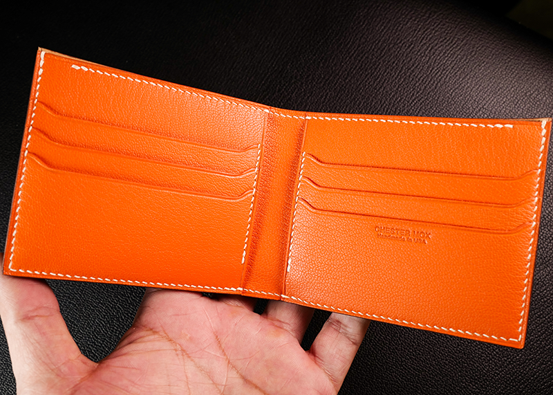 #90 Horween Shell Cordovan & French Chévre Combo Bifold Wallet