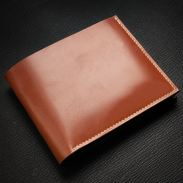 #90 Italian Shell Cordovan & French Chévre Combo Bifold Wallet
