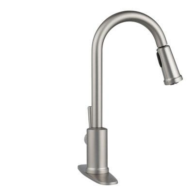 Moen Indi Single Handle Pull Down Sprayer Kitchen Faucet With Reflex And Microban In Spot Resist Stainless