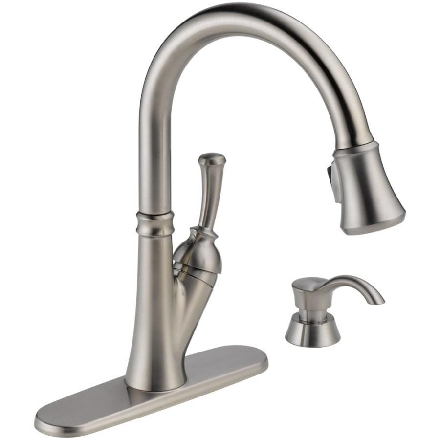 Delta Savile Venetian Bronze 1-Handle Pull-Down Kitchen Faucet - Stainless