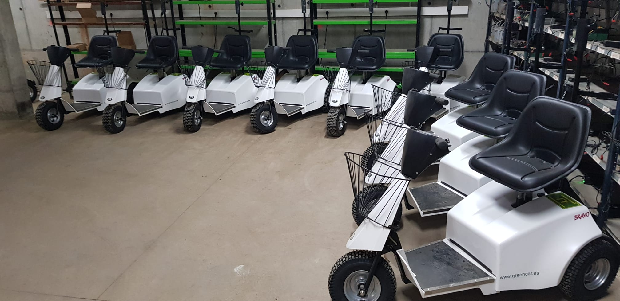 Flota moto single golf cart Real Club de Golf el Prat