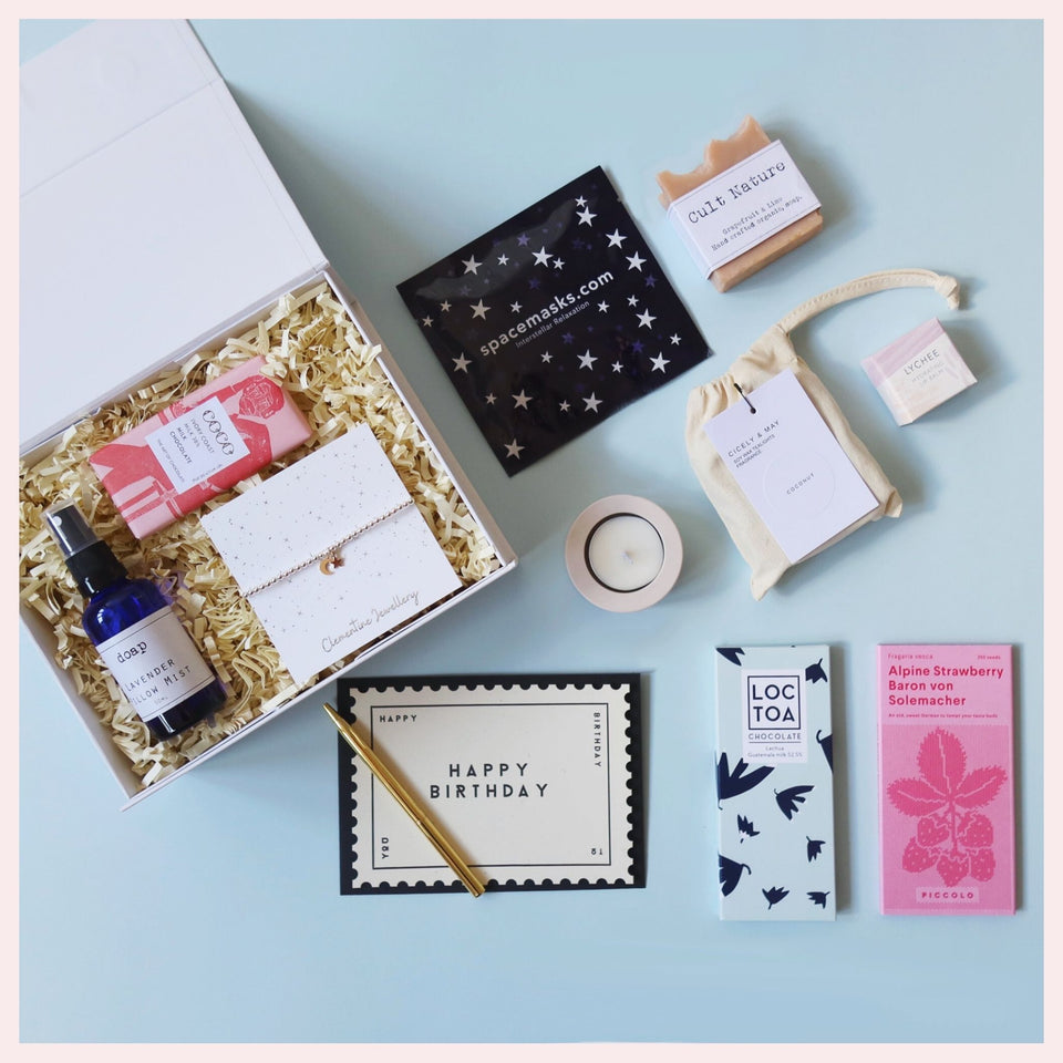 create your own gift box with a selection of products