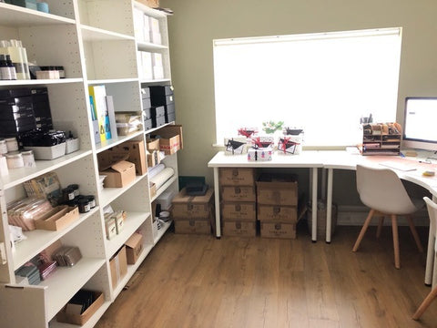 Home office and stock room