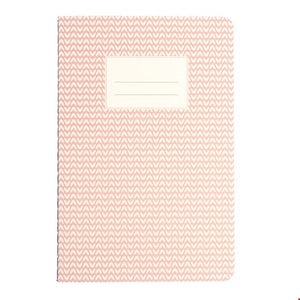 A5 plain paper notebook with pink abstract cover