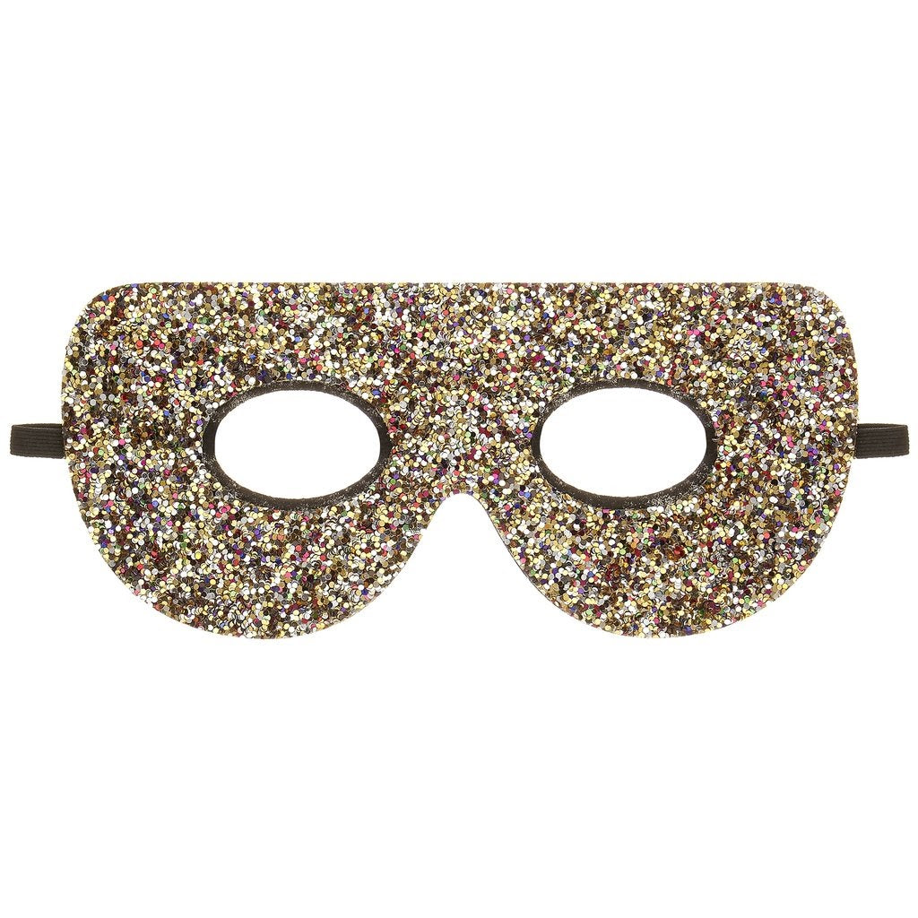 rainbow glitter superhero mask