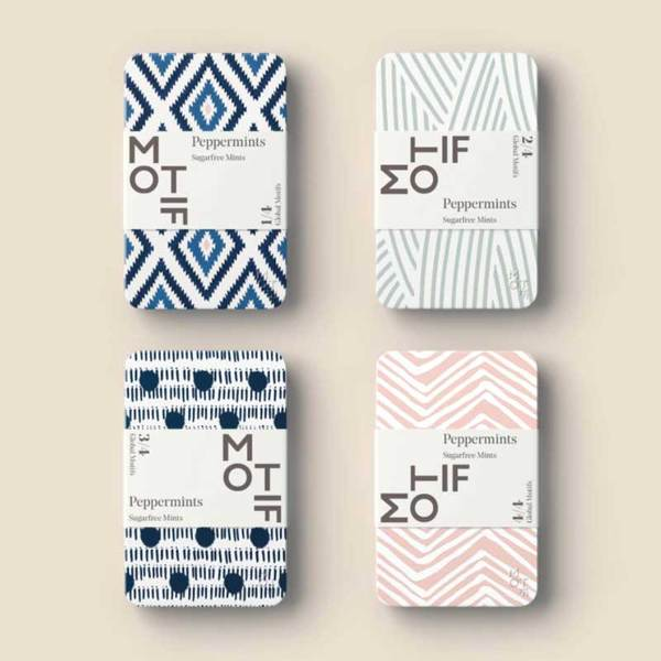 motif mints in a range of global motif designs