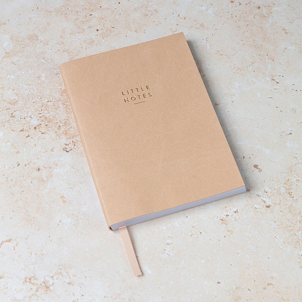 A6 Tan Little Notes Notebook