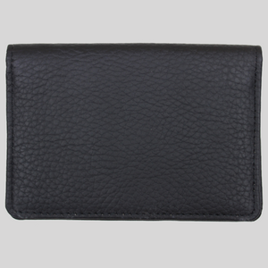 boy's ultra slim textured black leather travel wallet