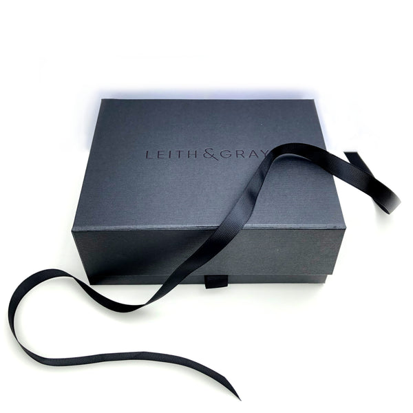 Luxury black Leith and Gray gift box included