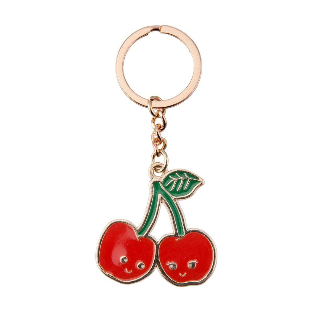 red cherry keyring