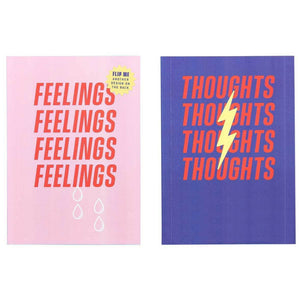 A6 feelings and thoughts notebook