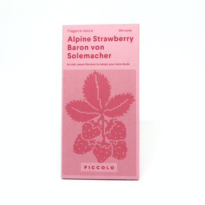 Piccolo strawberry seed packet