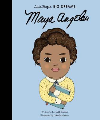 children's hardback book about Maya angelou