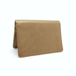 rose gold leather travel card holder