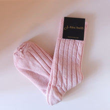 Load image into Gallery viewer, pink alpaca bed socks