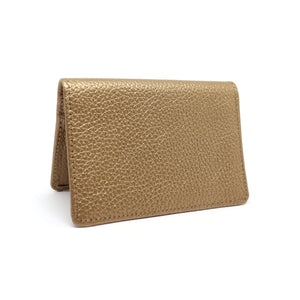 Rose gold textured leather card holder