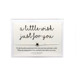 A little wish just for you cord bracelet with silver star