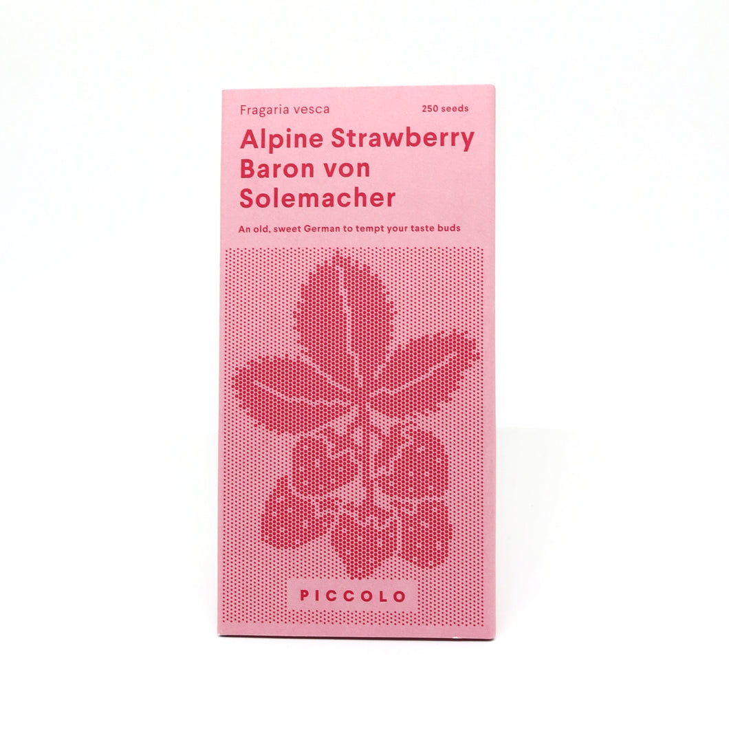 piccolo alpine strawberry seed packet