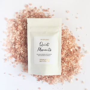 Quiet moments Himalayan bath salts with coconut and vanilla