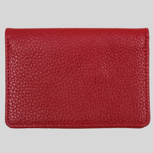 Load image into Gallery viewer, women's ultra slim red leather travel wallet