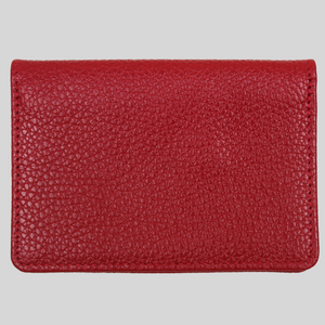 women's ultra slim red leather travel wallet