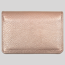 Load image into Gallery viewer, slim rose gold leather travel card holder