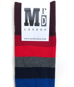 Men's thick stripe MrD London socks