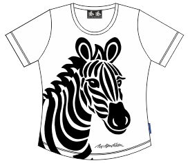 T-Shirt Zebra Lady