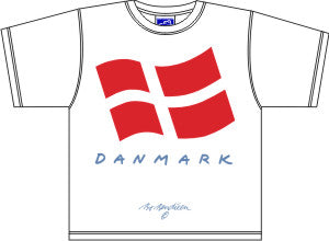 T-Shirt Dänemark-Flagge Kids