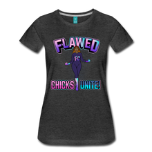 Load image into Gallery viewer, Flawed Chicks Unite Women's Crew T-Shirt - charcoal gray