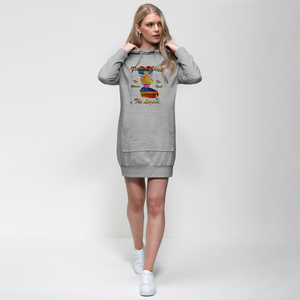 Flawed Chick The Woman The Legend Premium Adult Hoodie Dress