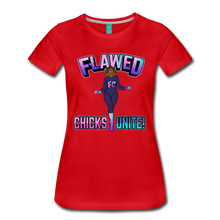 Load image into Gallery viewer, Flawed Chicks Unite Women's Crew T-Shirt - red