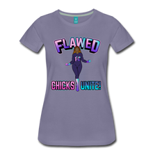 Load image into Gallery viewer, Flawed Chicks Unite Women's Crew T-Shirt - washed violet
