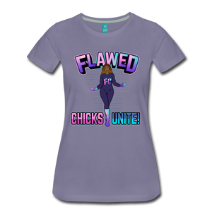 Flawed Chicks Unite Women's Crew T-Shirt - washed violet