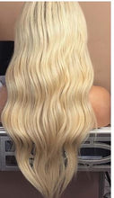 Load image into Gallery viewer, Pre Plucked Brazilian Remy Ombre 613 Blonde Full Lace Human Hair Wig With Baby Hair