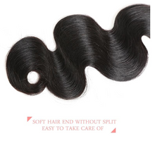 Load image into Gallery viewer, Indian Body Wave 10A Virgin Hair Bundles Natural Color 1pc or 3pc