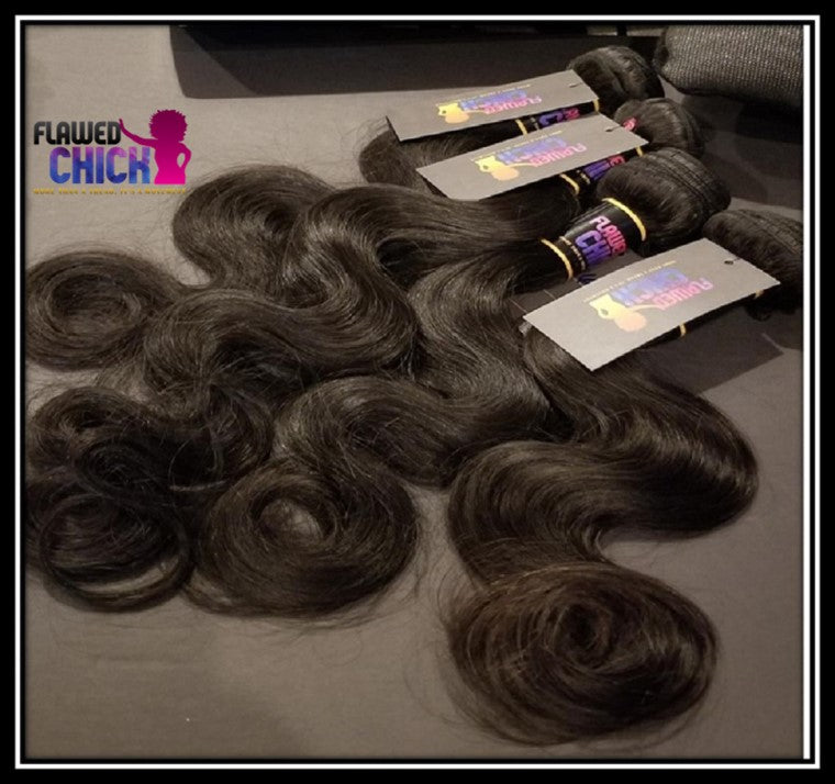 Bundle Deals - Indian Hair 3 Bundles With Closure - Body Wave, Straight, or Deep Wave - Natural Color