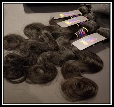 Indian Body Wave 10A Virgin Hair Bundles Natural Color 1pc or 3pc