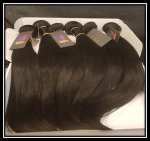 Indian Straight 10A Virgin Hair Bundles Natural Color 1pc or 3pc