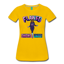Load image into Gallery viewer, Flawed Chicks Unite Women's Crew T-Shirt - sun yellow