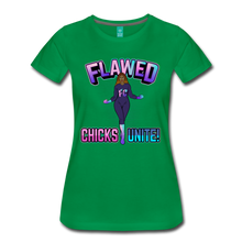 Load image into Gallery viewer, Flawed Chicks Unite Women's Crew T-Shirt - kelly green