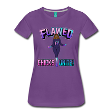 Load image into Gallery viewer, Flawed Chicks Unite Women's Crew T-Shirt - purple
