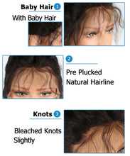 Load image into Gallery viewer, Peruvian Remy Straight Lace Front Short Human Hair Wigs With Bangs, Bleached Knots, and Baby Hair