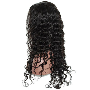 Brazilian Virgin Loose Wave Full Lace and Lace Front Human Hair Wigs 150% Density
