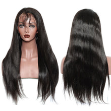 Load image into Gallery viewer, Brazilian Straight Remy 13X6 Lace Front Human Hair Wig 250% Density Natural Black With Baby Hair