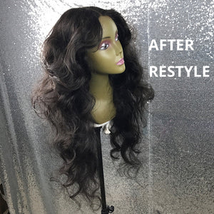 Brazilian Body Wave Remy Lace Front and Full Lace Human Hair Wig With Baby Hair 13x4  180% Density