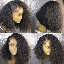 Load image into Gallery viewer, Brazilian Remy Deep Curly 360 Lace Frontal Bob Wig 180% 13X6 Lace