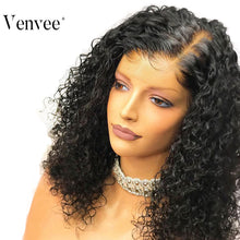 Load image into Gallery viewer, Brazilian Remy Deep Curly Bob 13x6 Lace Front Human Hair Wig 150% Density
