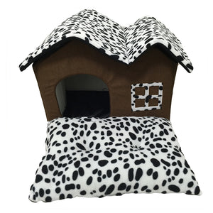 Fashion Pet Cat Dog House Warm  Folding Dog Kennel  for Puppy Kitten Pet  Dog Bed House with Mat Pets Pet Bed Chihuahua Teacup